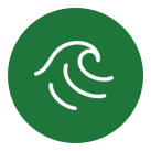 home icon wave green